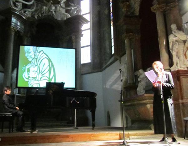 Motoki hirai klavírny koncert v koncertnej sieni klarisky